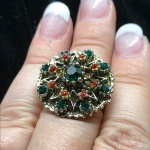 Vintage Jewelry - Gorgeous Vintage Multi Stone Ring